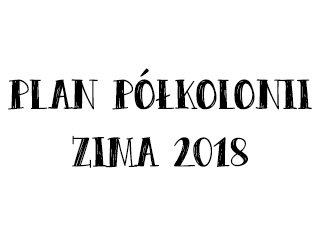 Plan Półkolonii 2018